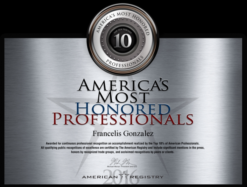 Kidsville Pediatrics Takes Great Pride In Receiving The 2016 America's Most Honored Professionals Award